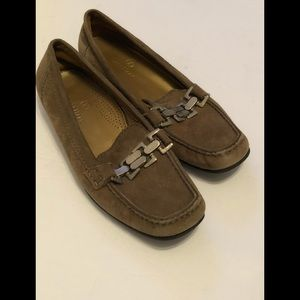 Cole Haan Brown suede flats silver hardware size 6